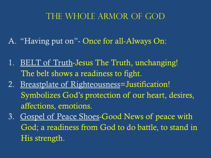 The Whole Armor of God Bible Study Visuals
